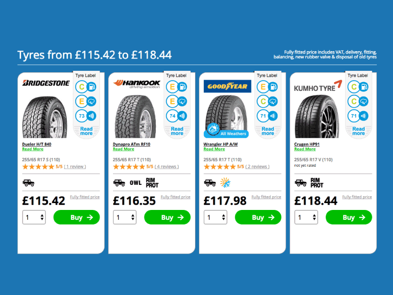 Choose a tyre