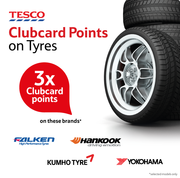 Collect Tesco Clubcard Points on Tyres